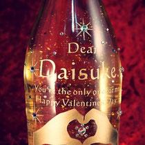 バレンタイン  名入り 金箔入り オリジナルシャンパン 世界で1つ 格安 ワイン ボトル オーダーメイド 製作 東京 スワロ