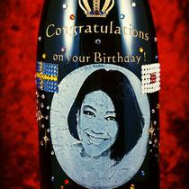 誕生祝い オリジナルシャンパン ワイン 写真 モエ・エ・シャンドン 世界で1つ 格安 名入れ ボトル 製作 東京 ノベルティ