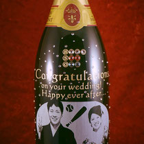 結婚祝い お祝い オリジナルシャンパン ワイン ボトル 写真入り 世界で1つ 名入れ 格安 オーダーメイド 製作 東京 ロゴ入れ