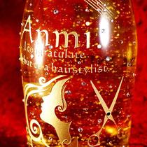 開店祝い ロゴ  金箔 オリジナル シャンパン ボトル ワイン 世界で1つ 名入れ 格安 製作 東京 記念品 ノベルティ おしゃれ 酒 オーダー