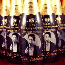 写真 オリジナル ボトル シャンパン ワイン オーダーメイド ノベルティ 名前 ロゴ 東京 格安 製作 記念品 酒 おしゃれ オーダー