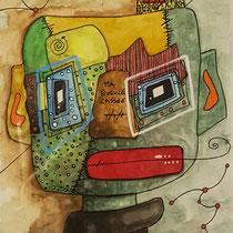 """""""Ma gueule cassée""""  sur papier aquarelle (300g grain  fin sur format 29,7x21 cm) -  Malagarty"""