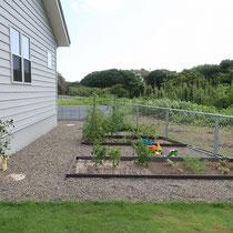 程よい広さで、家族で楽しむ家庭菜園となりましたね。