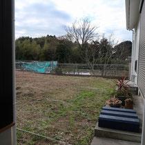 造園工事着工前、一面雑草に覆われたお庭がきれいに生まれ変わりましたね。