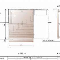 当初ご提案図、ステップの配置場所や床板の方向がその後変更となりました。
