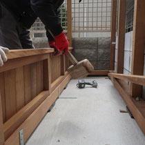 土圧に負けないよう、囲いのフェンスは厚み12mmで作成します。
