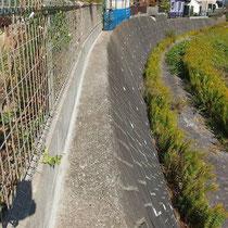 庭の外、擁壁とブロックの境目から雑草が生えて困るので、モルタルで蓋をしました。