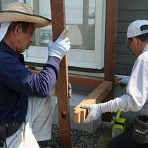 仕口でフェンスの柱を立てるので、組みあがった時の強度がしっかりとしています。