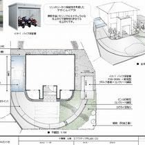 提案資料、初回の訪問時にいろいろお話を伺いまして、お住いの玄関を中心に円形となるようなデザインを意識してみました。