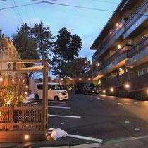 前回の施工部分とあわせ、ホテル全体の奥行感が高まる風景になりました。