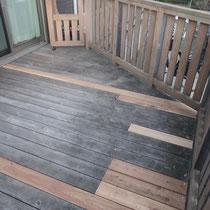 張り替える板材を最小限にして、極力残すように切断・設置致しました。