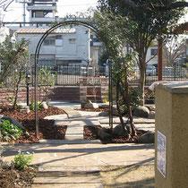 既存のお庭の先に、さらに広がる公園のような広い空間です。