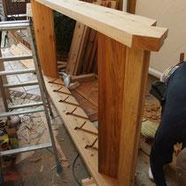 ハードウッドで作る、立派なささら階段!