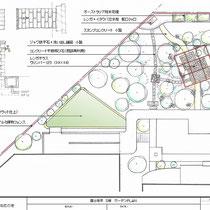 イラスト図面、都市整備にともない敷地境界にブロックとフェンスを設置する計画からスタートしました。