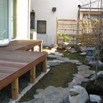 一期工事が完成!グランドカバ―と植栽はお客様によるDIYを予定。