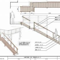 イメージ提案図。大工さんとも相談し安全で耐久性のある階段を考えました。