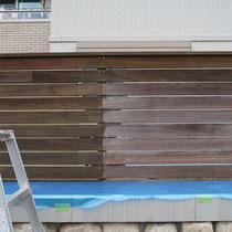 塗装前と塗装後の比較、塗料の液体だけではイメージしにくい絶妙な色です。