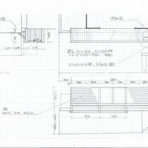 施工図面、絵に描いた餅を実現してくれる大工さんの技術があってこそ完成される工事。