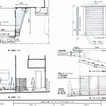 提案資料。ルーバーフェンスやデッキはあらかじめ寸法などを決めて、現場では組立てに専念できるようにします。