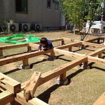 構造部分はほぞ組みで頑丈にできます。DIYだけどプロの大工仕様!