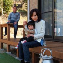 毎週末はお孫さんと一緒に、ウッドデッキで外遊びを楽しんでくださいね。