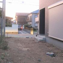 施工前、お庭にはウッドデッキを将来的につけたいとご要望を頂きました。