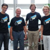 Der Webmaster mit den drei Jimdo-Gründern