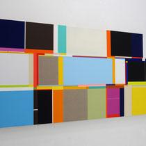 Richard schur, Electric Sea, 2017, acrylic on canvas, 120 x 240 cm / 47 x 94 inch