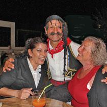Rhodos 2013, Unsere Freunde Helena und Savvas im Hotel Faliraki Beach