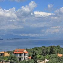 Corfu 2014, Blick von unserem Appartement Richtung Kerkyra