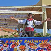Rhodos 2013, Unser Freund Savvas im Restaurant Marios in Faliraki