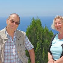 Corfu 2015, Alexander Hirhager und Roswitha am Profitis Ilias