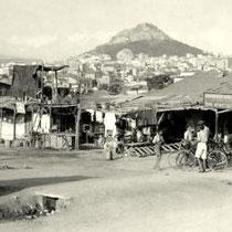 Réfugiés  dans un camp à Thissio, Athènes (1925)