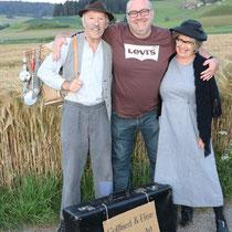 Komiker Gottfried und Elise aus dem Emmental, Kanton Bern, ein glücklicher Jubilar