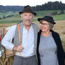 Komiker Gottfried und Elise aus dem Emmental, Kanton Bern, unterwegs im Emmental