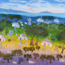 South West Cottages | John Cartwright | Oil on Board | 1480x1170mm - framed
