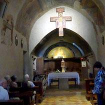 In der Kirche von San Damiano