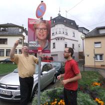 Plakatieren am Dienstag, 27. August 2013
