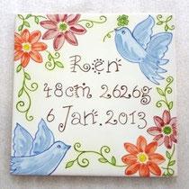 No.304 New!   幸福を運ぶ青い鳥 (15×15cm) ハンガーフック付 10,000円