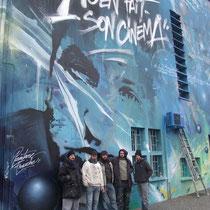 Sean Penn, Fresque murale Peinture Fraiche, Agen.