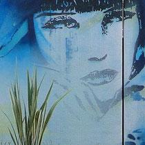 Louise Brooks, Fresque murale Peinture Fraiche, Agen.