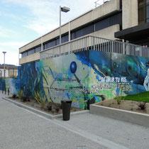 Fresque murale Peinture Fraiche, Agen,