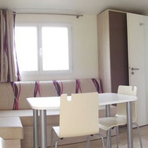 lot et bastides  mobilhome sleeps 6 living room