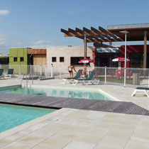 lot et bastides  swimming pool and snack
