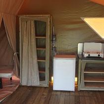 lot et bastides  Möblierte Zelten Küche