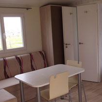 lot et bastides  mobilhome sleeps 4 living room