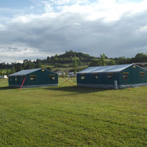 lot et bastides  tents for groups outside view
