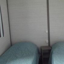 lot et bastides  chalet framboise chambre lits simples
