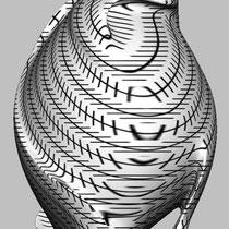 Romana Schuler, Zöller Sphere 2013, 3D-Print (Entwurf), Gips, 2 Farbendruck
