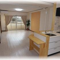 対面キッチン・リノベーション・2LDK・鉄筋コンクリート・マンション・岐阜市